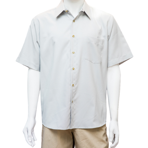 Cipollini-New Men's S/S Wet no Sweat 1 Pocket Button Front Shirt (M,L Grey)